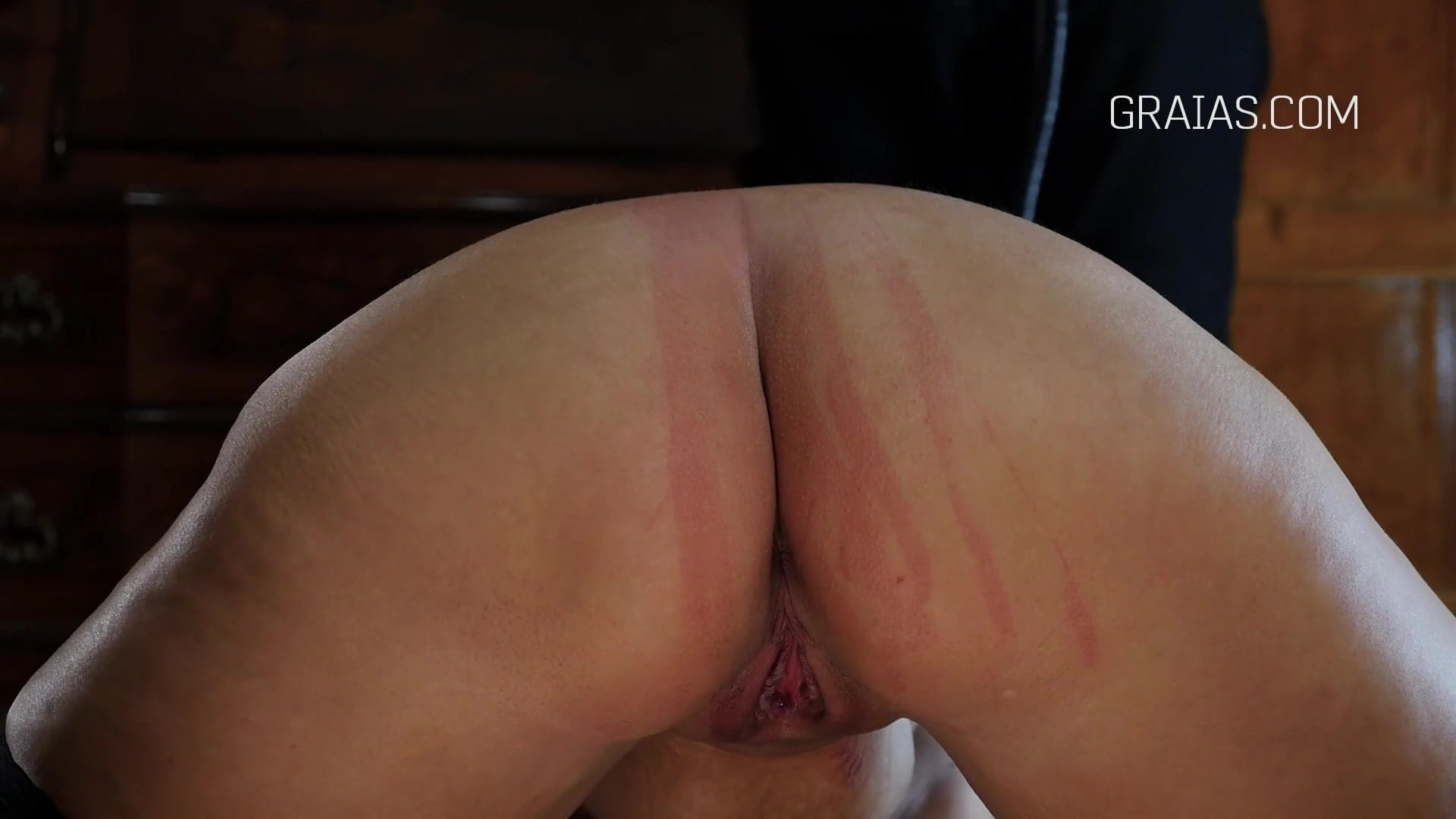 Asshole and Pussy Whipping for the Chubby Slave Girl.