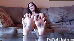 Pamper Sadie's perfect size 10 feet