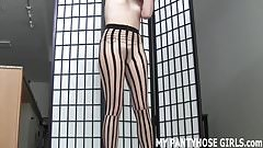 How does my ass look in these hot new pantyhose JOI