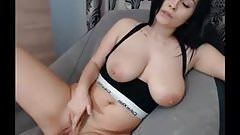 chilling boobs out with pussy play