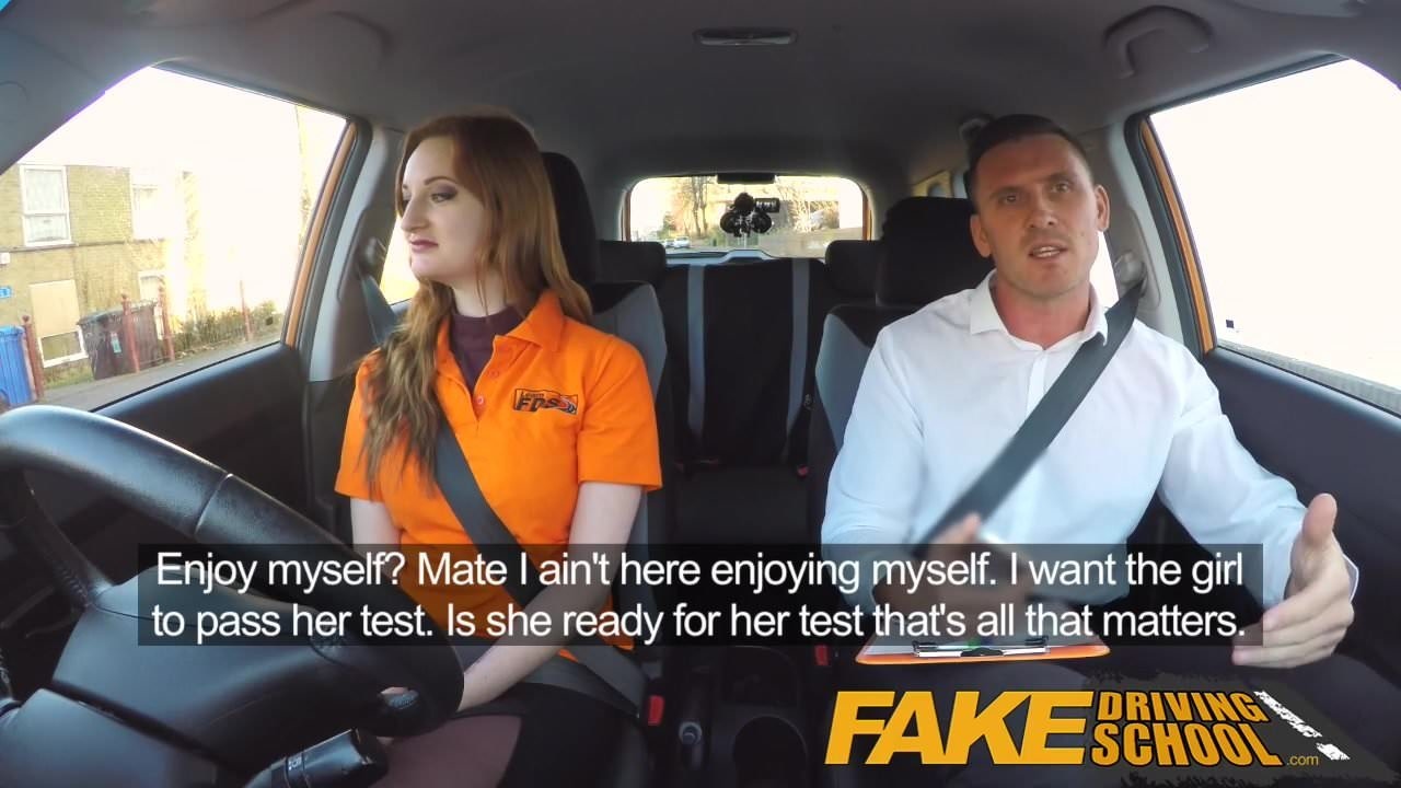 Free download & watch fake driving school sexy ginger geek girl in glasses         porn movies
