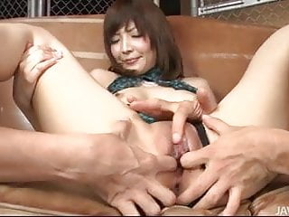 Asian mom Riona Suzune creampied by 2 not her lucky sons