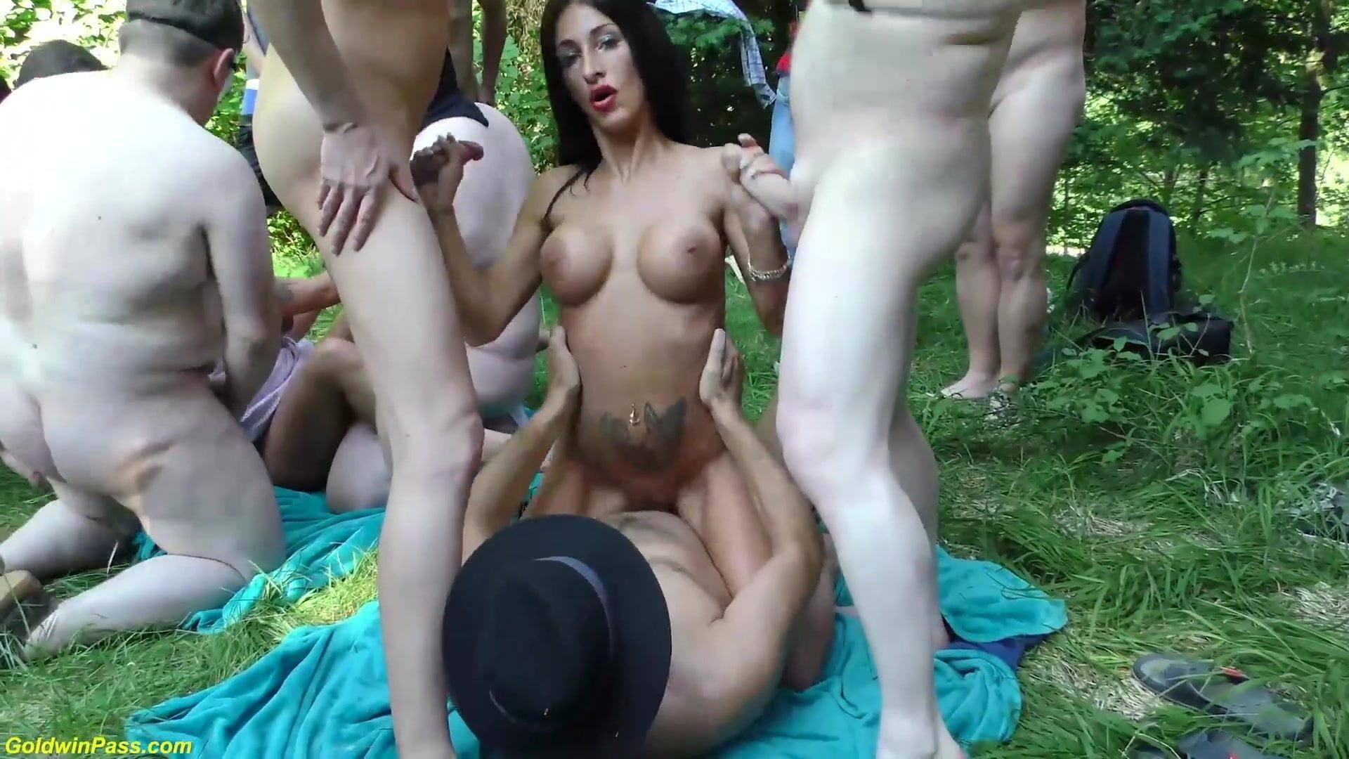 German outdoor porno