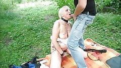 Slavewhore is whipped in public