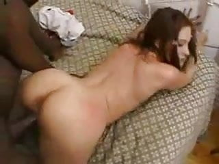 White slut loves big black cock