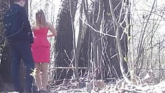 Spy cam outdoor peeing