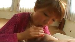 Cute Japanese teen gives a nervous blow job Uncensored