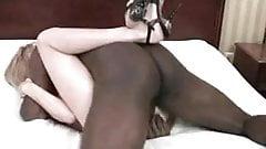 white and black creampie