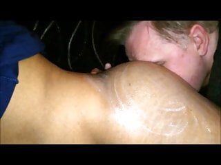 Kinky Guy Licking Cream off My Ass & Rimming Me