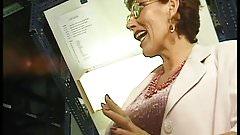 Blonde Lesbian & redhead Bi-MILF suck off men at work