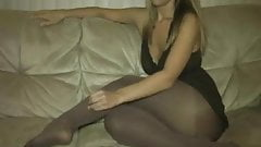 JOI pantyhose teases ass feet and pussy