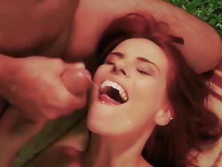 Jerkoff jackoff cum closeup - Horny cute school girl closeup cum swallow in old fuck break