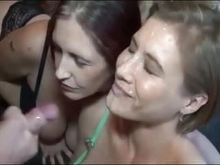 Geil ins Gesicht gespritzt