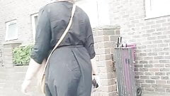 Candid bengali hijabi slag phat ass walking and teasing