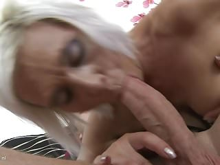 Granny and mother fucked hard by boys