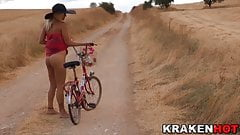 Krakenhot - Voyeur video with a provocative girl outdoor