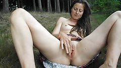 Skinny mature,outdoor masturbation