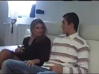 French Milf Seduces a Boy and take cumshot