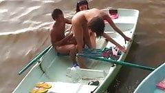 Hard college anal and pussy fucking in the boats