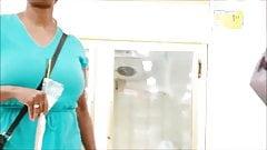 Candid Boobs: Slim Busty Black Woman 10
