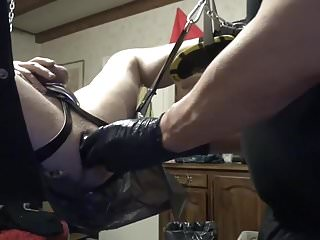 Preview 5 of Long ball Dildos and fisted through an Ass Tunnel Dildo