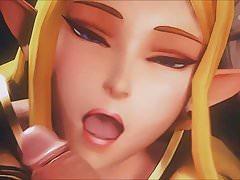 Zelda Feels Hentai Cumming (3D HMV)