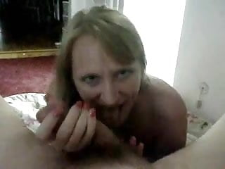 Wife Sucks Her Juices Off His Cock And Takes His Load !