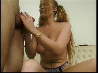 Hottie with nice naturals sucks & fucks a big hard cock