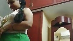 Long haired Tamil maami full nude