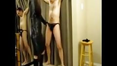 White horny man tease by sexy asian mistress