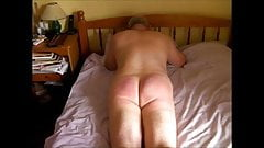 Wooden Paddle, Cane & Flogger for Nude Husband - Compilation