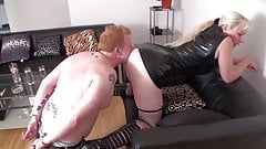 Slaves must worship ass of dominant ladies