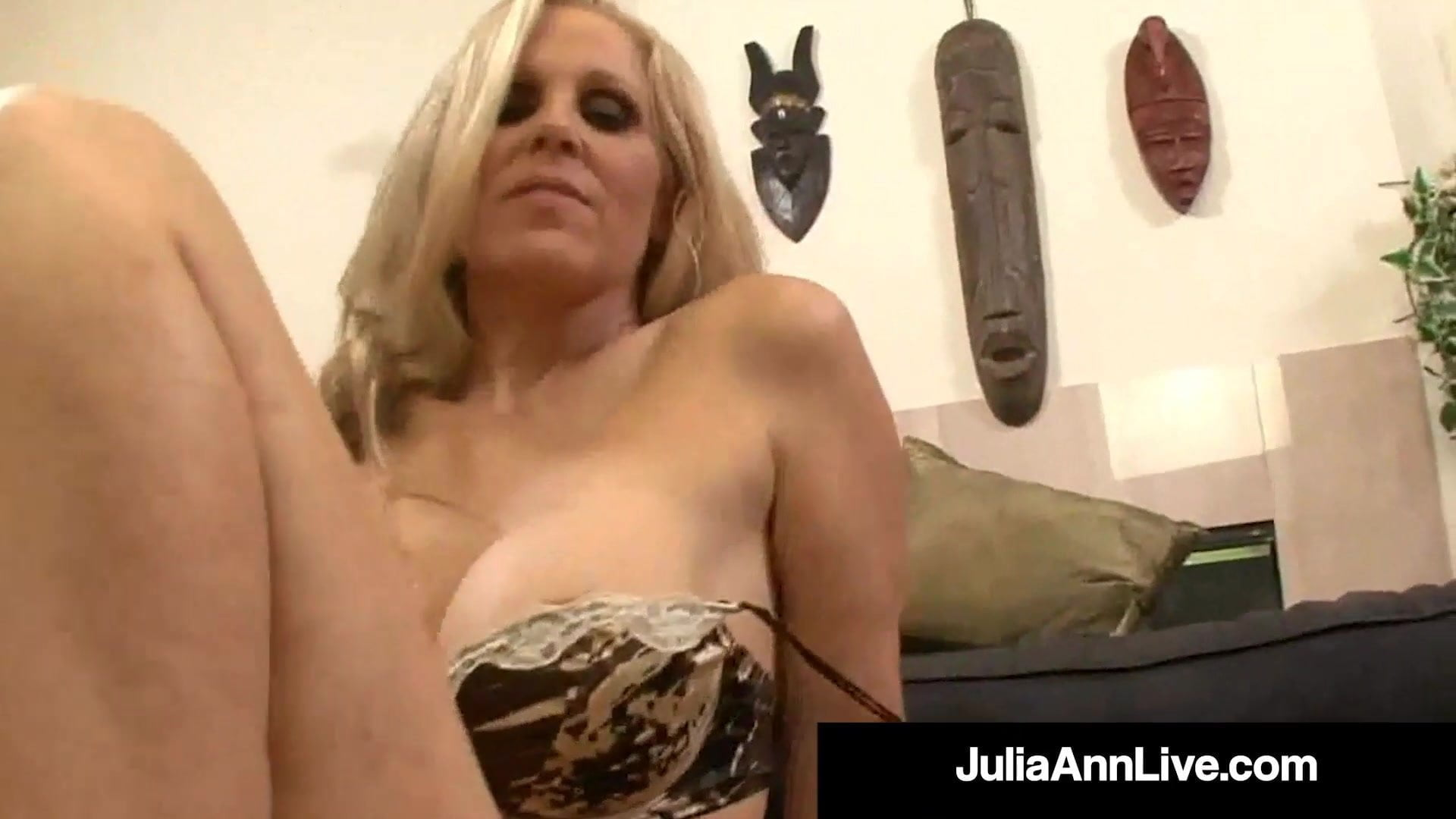 Busty Horny Cougar Julia Ann Gets Her Magic Muff Plowed!