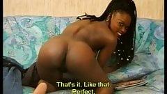 Ebony beauty casting and first scene