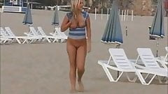 Alison - Strips & Play almost Nude on a Beach