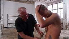 Leo Ocean reshapes bound ginger twink ass with cock