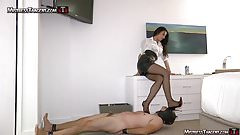 Mistress Tangent sensual femdom foot domination trample