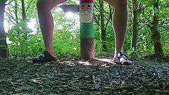 Masturbating in the woods 2