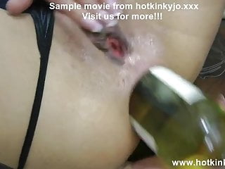 WINE BOTTLE IN ASS, ANAL FISTING, PROLAPSE - HOTKINKYJO