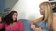 Sexy Pierced Teen Seduced By Busty Mature Lesbian