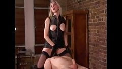 Mistress Fucks Slave on a Slab WF