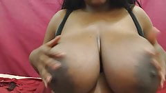 Ebony babe with nice big tits