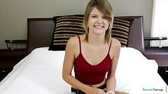 Teenage amateur getting drilled at casting