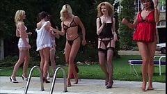 Vintage lingerie dance