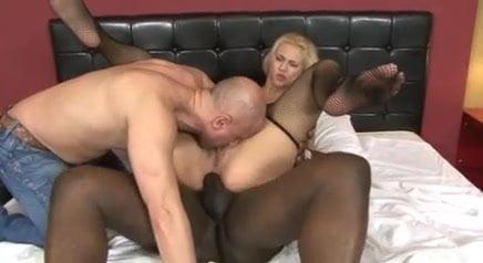 Cuckold licks pussy