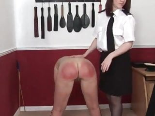 Police Woman Spanking Milf Prisoner