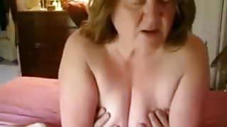 grannie riding cock