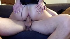 Blonde cowgirl loves anal sex