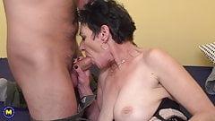 Grandma with amazing tits fuck lucky boy