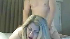 very nice mature chubby bitch thick ass takes doggy hard